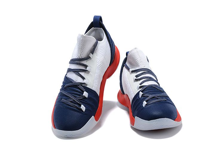 e9f0f0ec416d Men s Under Armour Curry 5 Low Navy Blue Red-White Steph Curry Basketball  Shoes