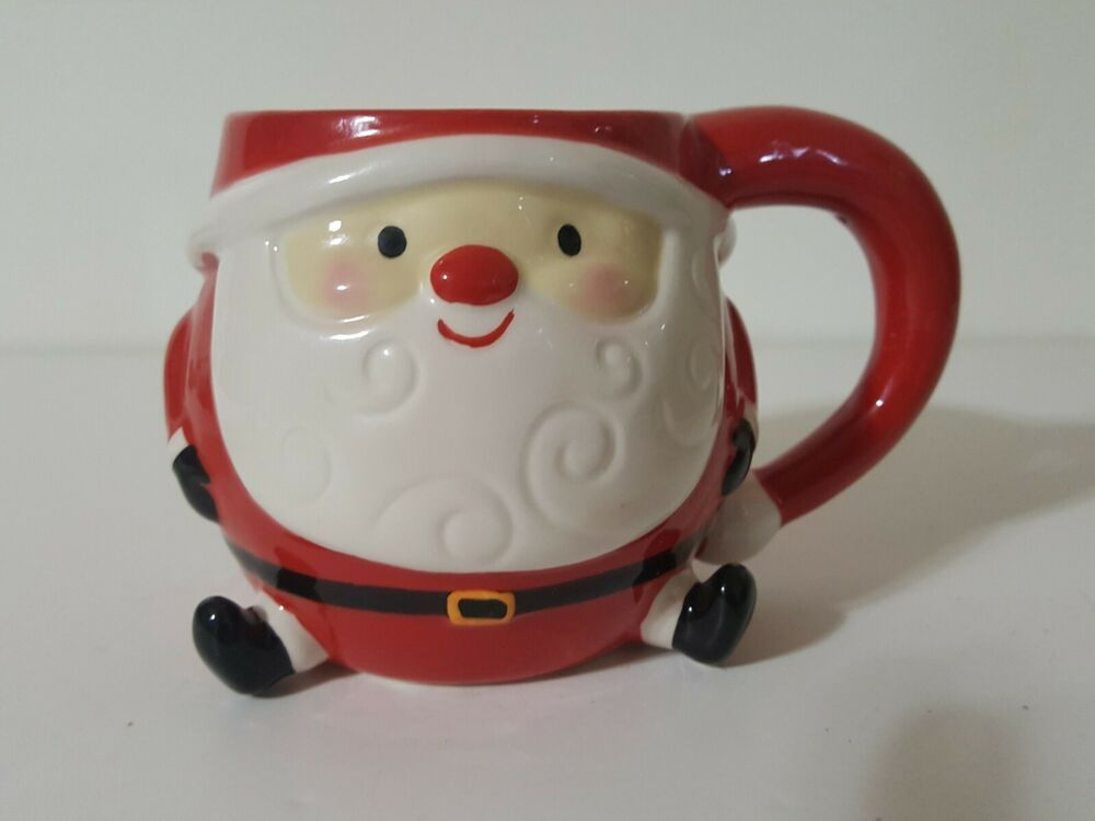 Boston Warehouse Jolly Santa Claus With Legs 3d Coffee Mug Cup Ebay Unicorn Coffee Mug Collectable Cups Mugs