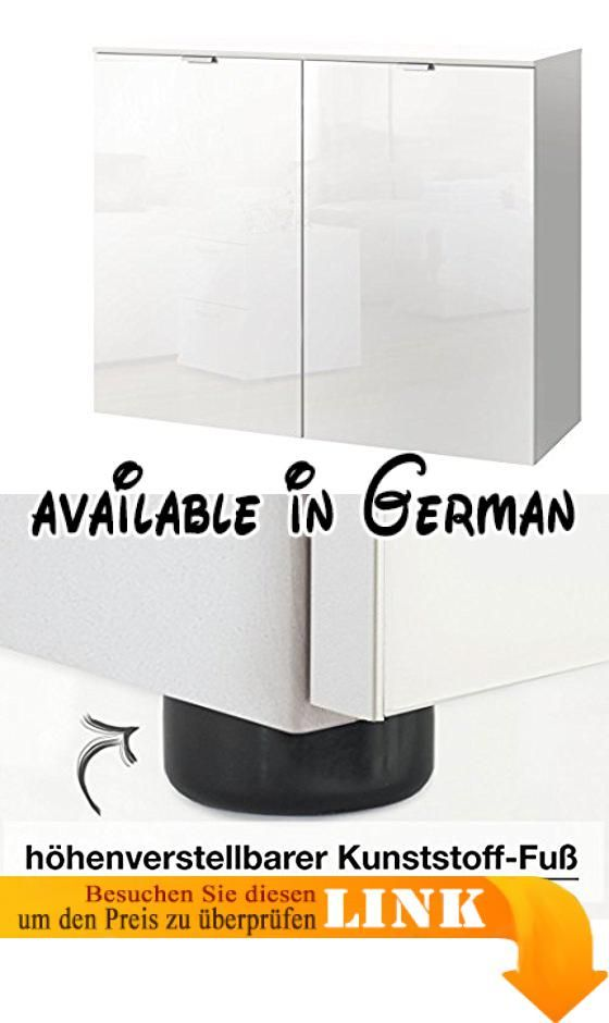 B01CM8FZW0  Express Möbel Kommode Schrank Weiß Hochglanz Absetzung - schlafzimmerschrank weiß hochglanz