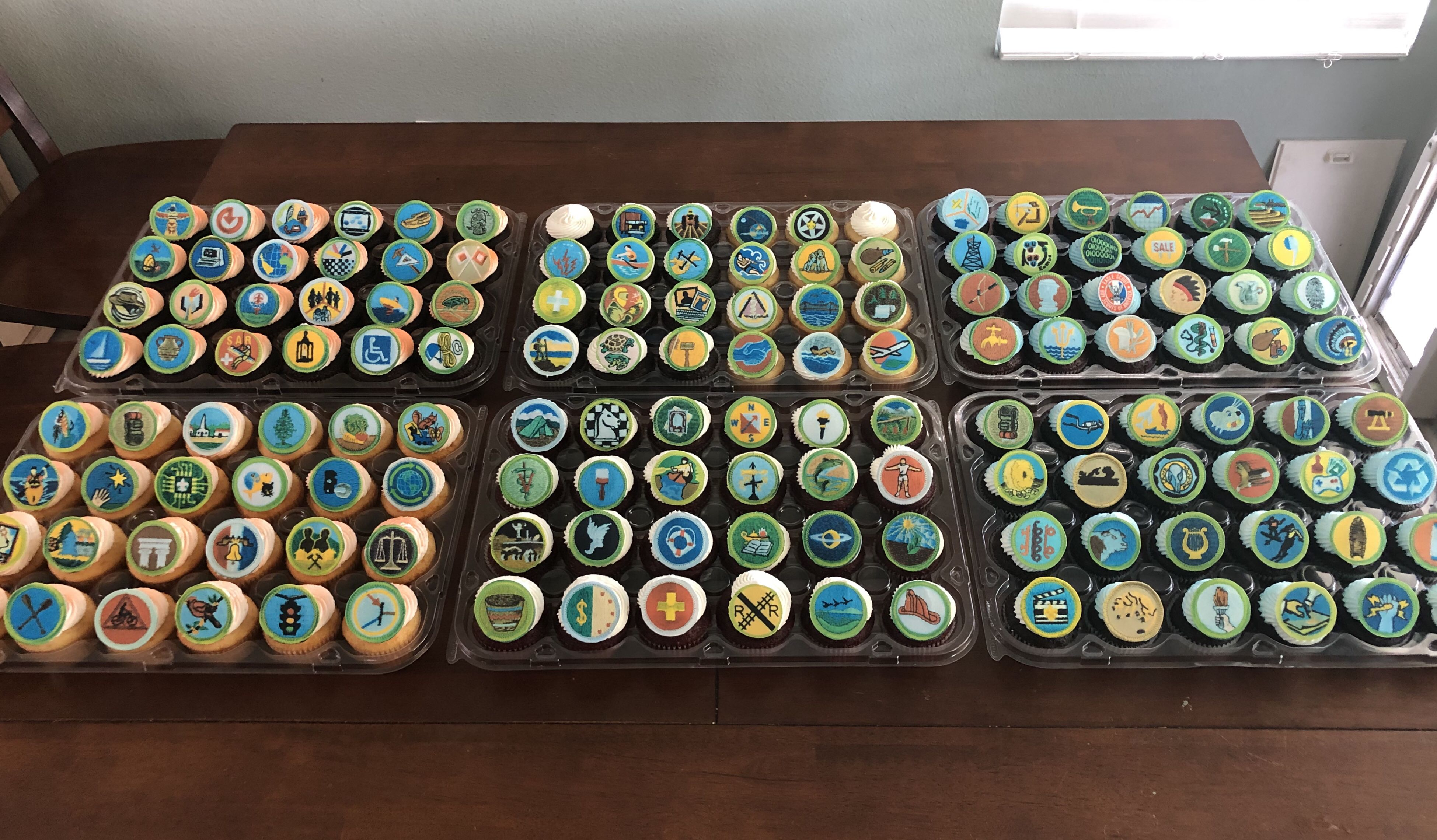 Eagle Scout Badge Cupcakes Cakeimagination Cupcakes