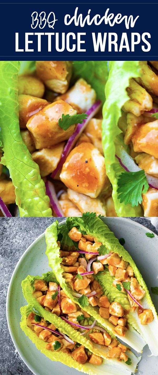 Barbecue Chicken Lettuce Wraps images