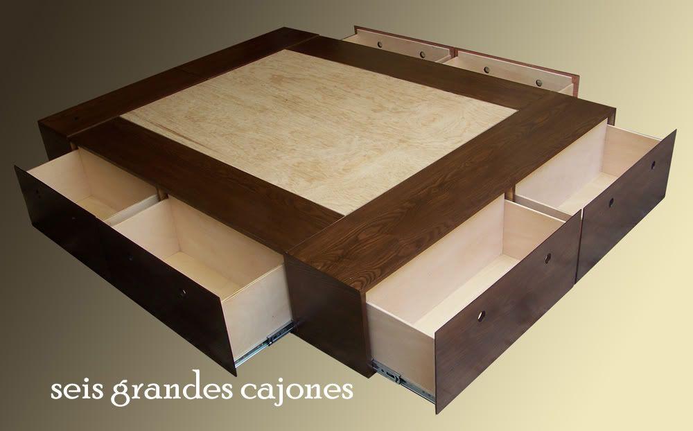Base para cama minimalista recamara comedores bufetes for Cama minimalista