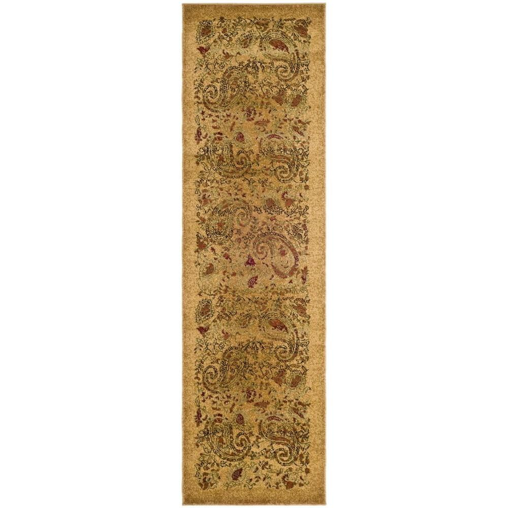Safavieh Lyndhurst Beige Multi 2 Ft X 12 Ft Runner Rug Lnh224a 212 Traditional Area Rugs Paisley Rug Area Rugs