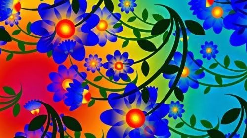 Abstract Flowers – Wednesday's Daily Jigsaw Puzzle | Abstract Art