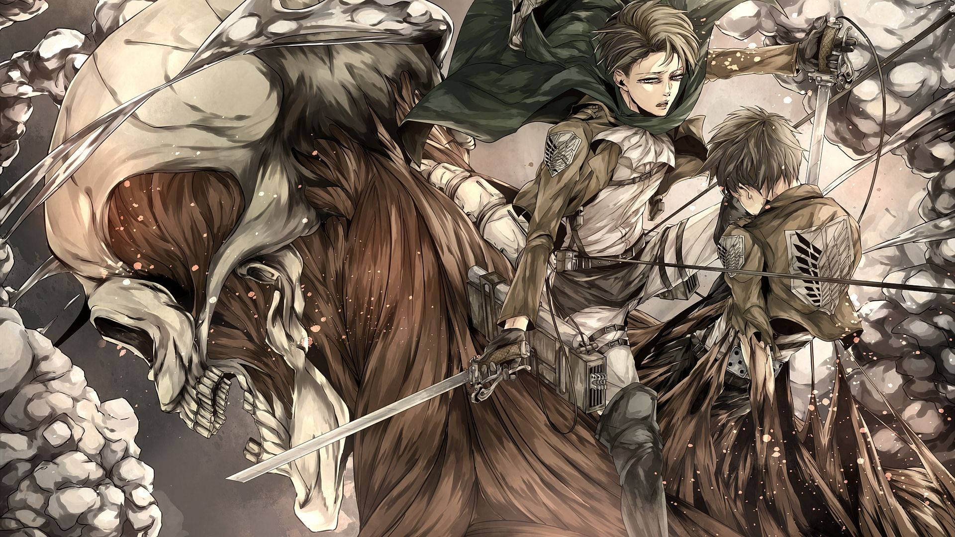 anime attack on titan levi ackerman eren yeager
