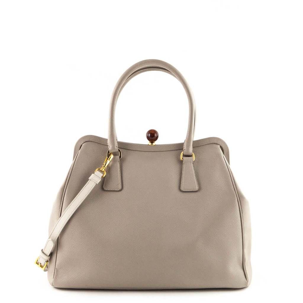 eda0fdff4ae5 Prada Pomice Saffiano Frame Satchel - LOVE that BAG - Preowned Authentic  Designer Handbags -  1200