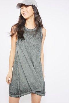 Acid Wash Tunic Dress