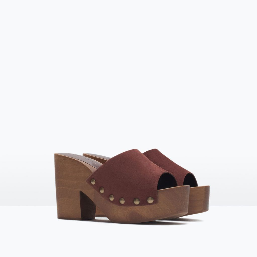 leather studded clogs woman new this week zara netherlands