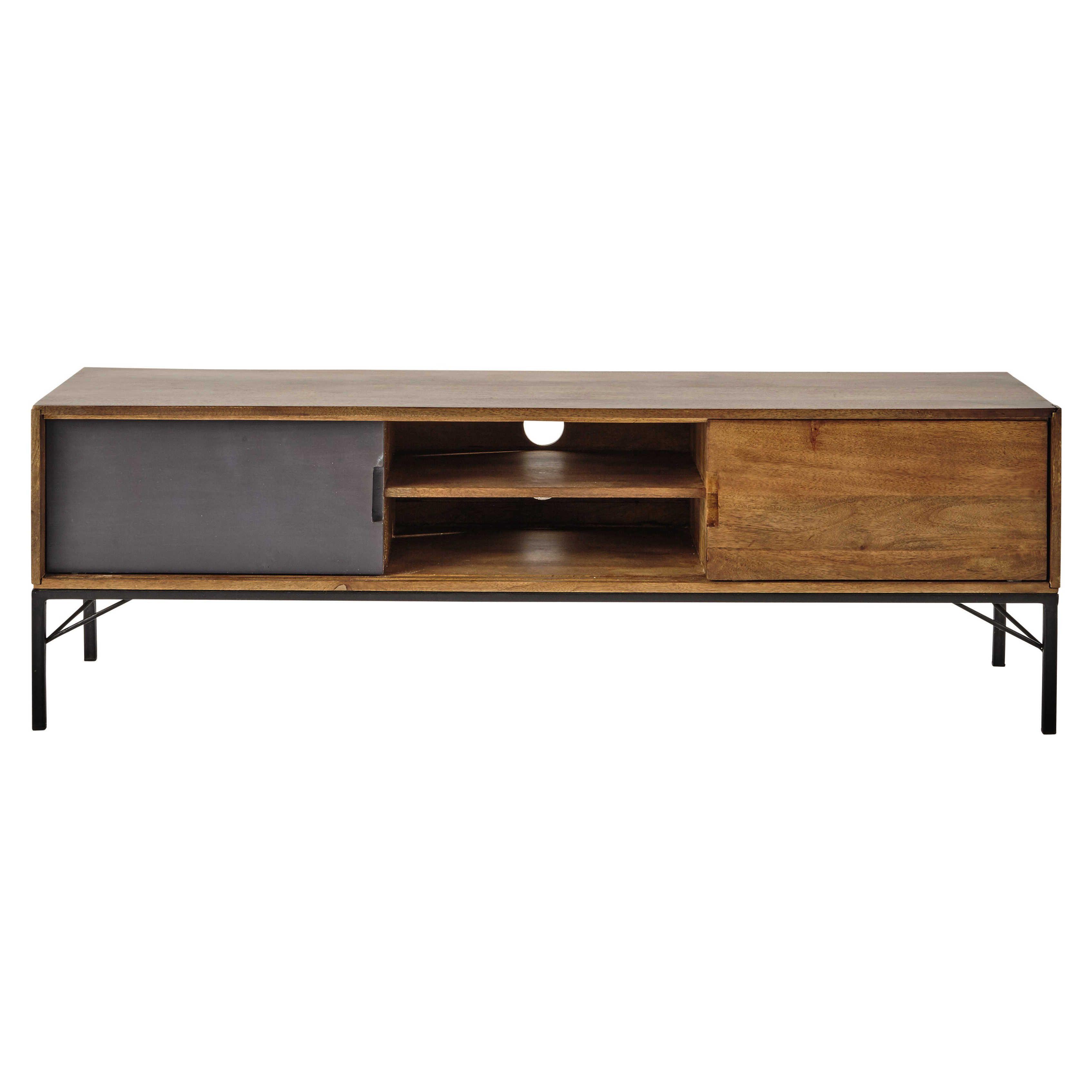 meuble tv en manguier l 150 cm arty maisons du monde