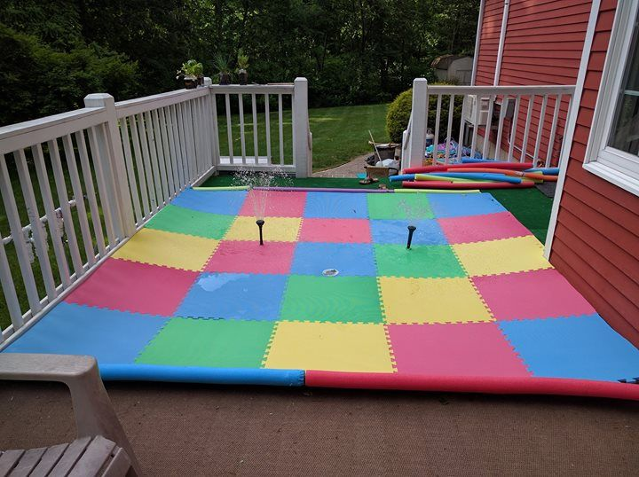 I made a splash pad for my kids Check out the full project http:/ - Pin By Bobby Building On Behind The Scenes Diy Projects Pinterest