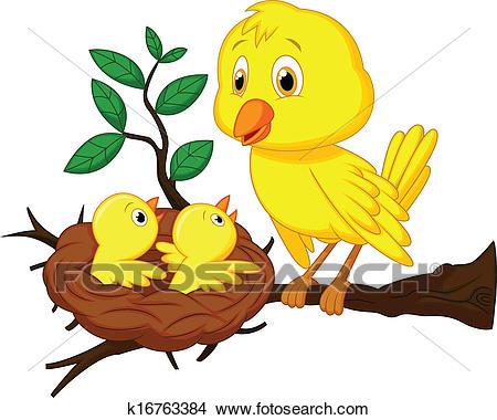 الأم و الطفل صرف من الخدمة رسم كاريكتوري Clipart K16763384 Cartoon Clip Art Art Drawings For Kids Cartoon Birds