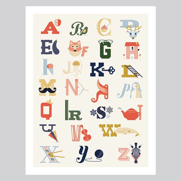 Printable Alphabet Poster Www.lovevsdesign.com