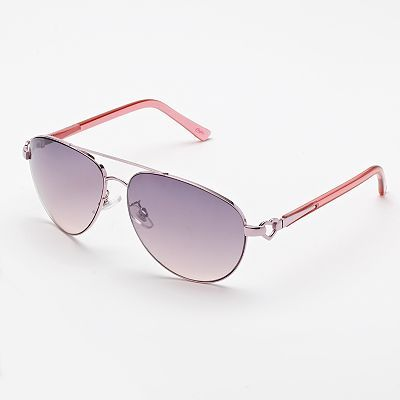 b145f6e3800 Candies Temple Heart Aviator Sunglasses from Kohl s. Love these!