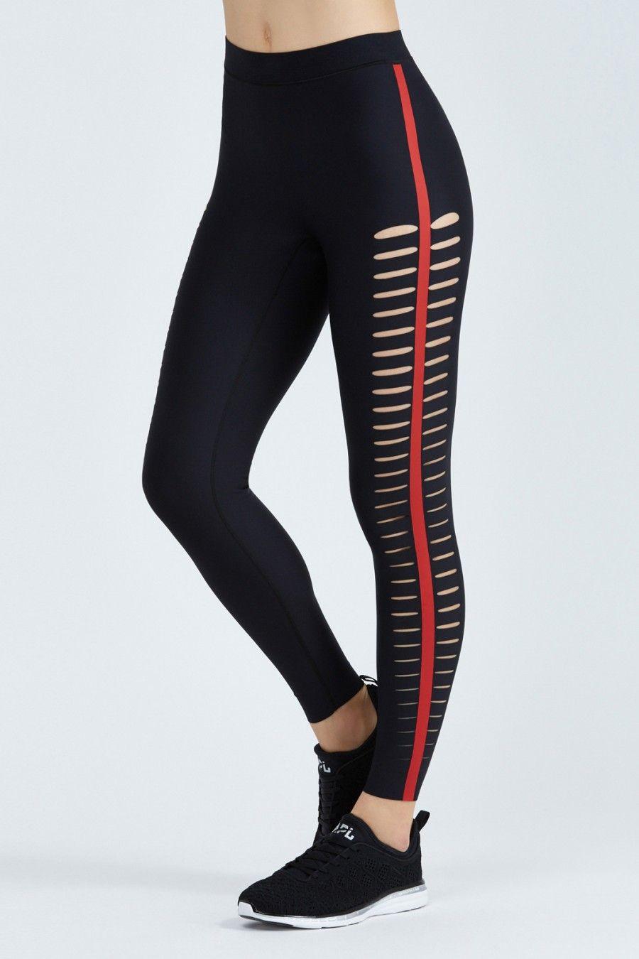 Ultra High Silk Slash Leggings