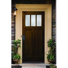 Dark Wood Grain Fibergl Stained Exterior Doors Google Search