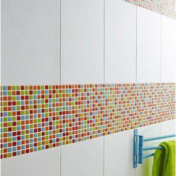 Mosaïque mur Pop multicolore | Leroy Merlin | Salle de bain ...