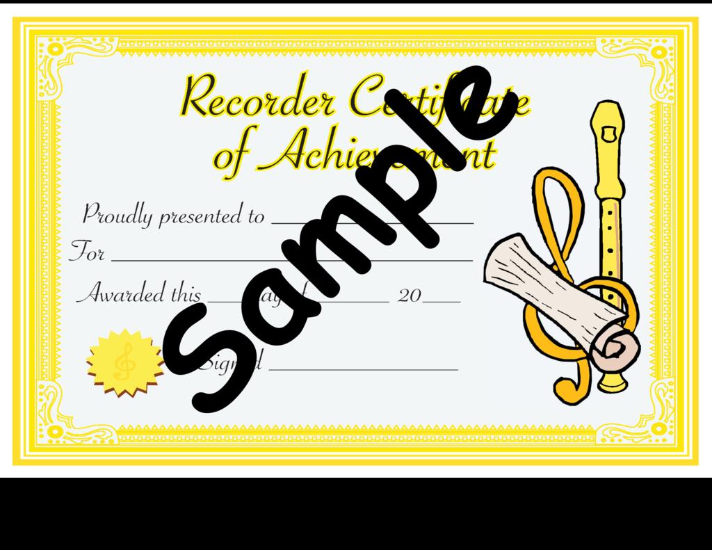 Recorder Level 1 Certificate