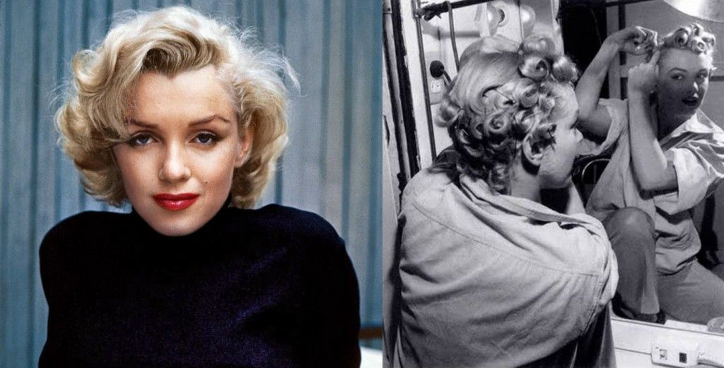 Marilyn Monroe In Pincurls Hair Without Heat How To Curl Your Hair Pin Curls