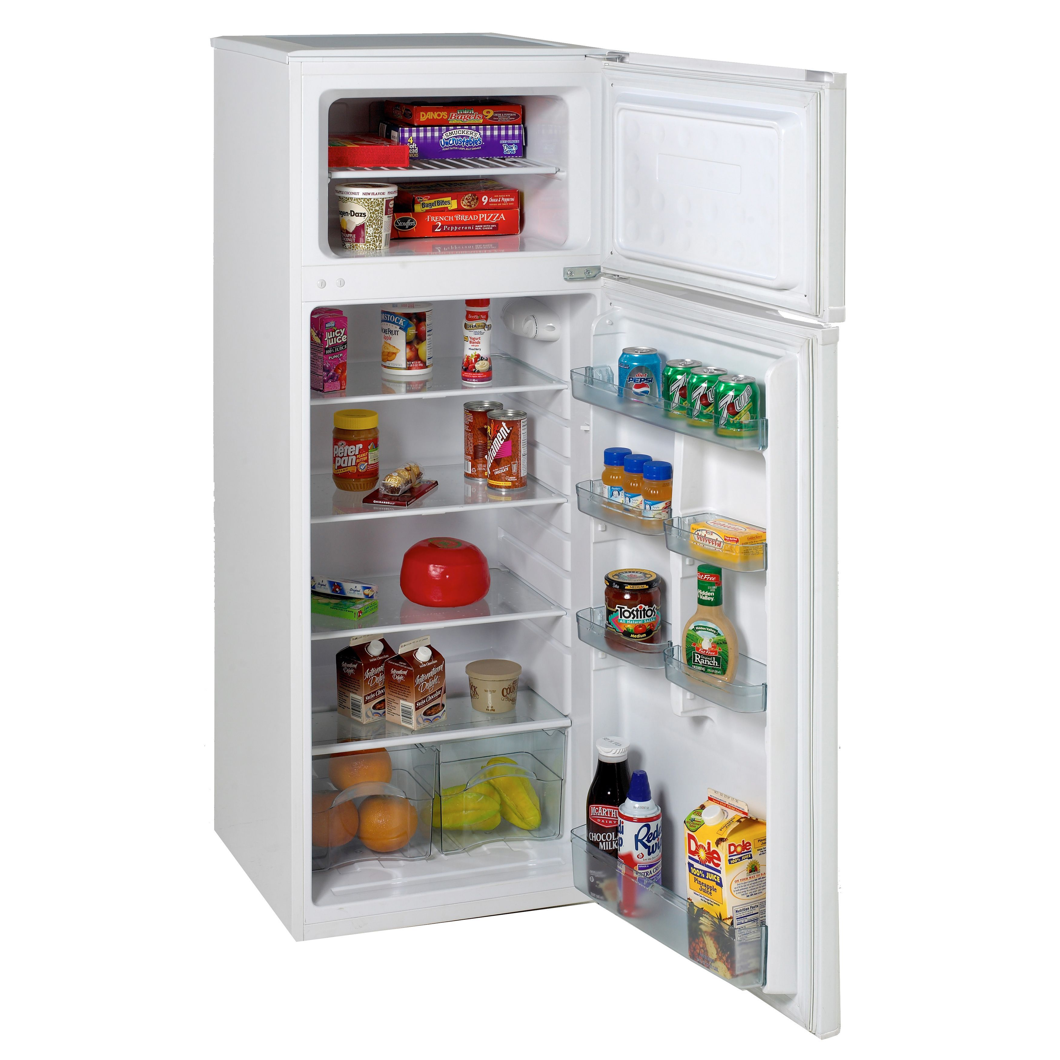 Avanti RA7306WT Apartment size White Refrigerator Freezer