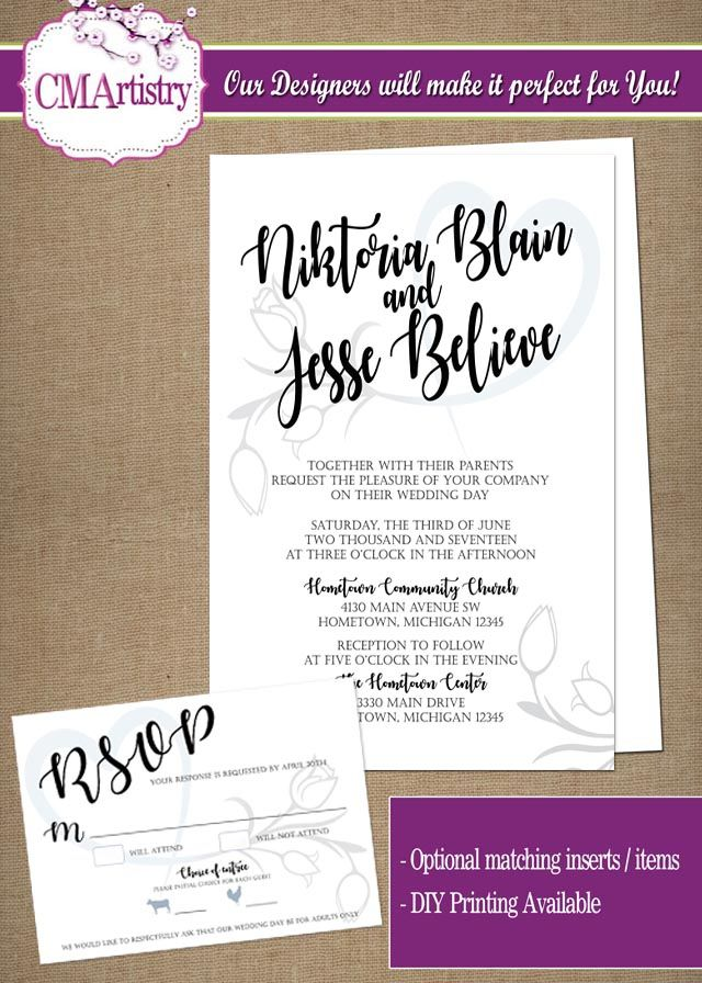 Personalized Love Blooms Wedding Invitation *Need Party Invitations ...