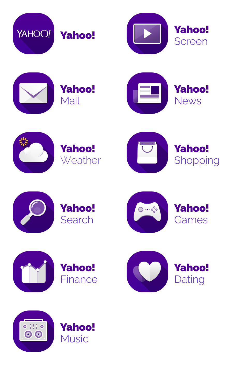 Dribbble 01 Yahoo Icons Normal V1a Png By Elios Lino Icon Iconography Web Design