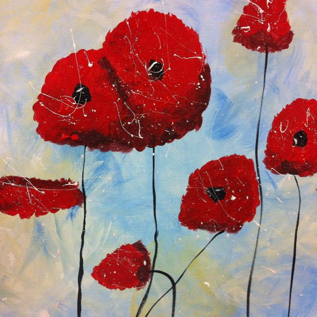 My painting...My poppies!  by Donna Lampkin