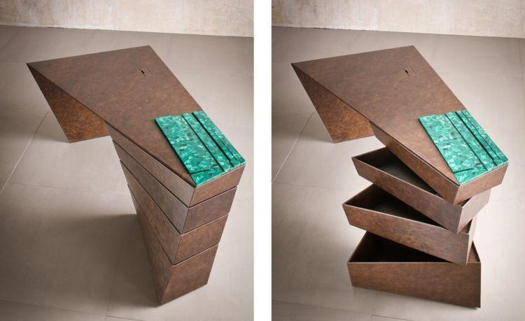 Italienische Möbel Designer Alessandro Isola Torque Desk Designermöbel
