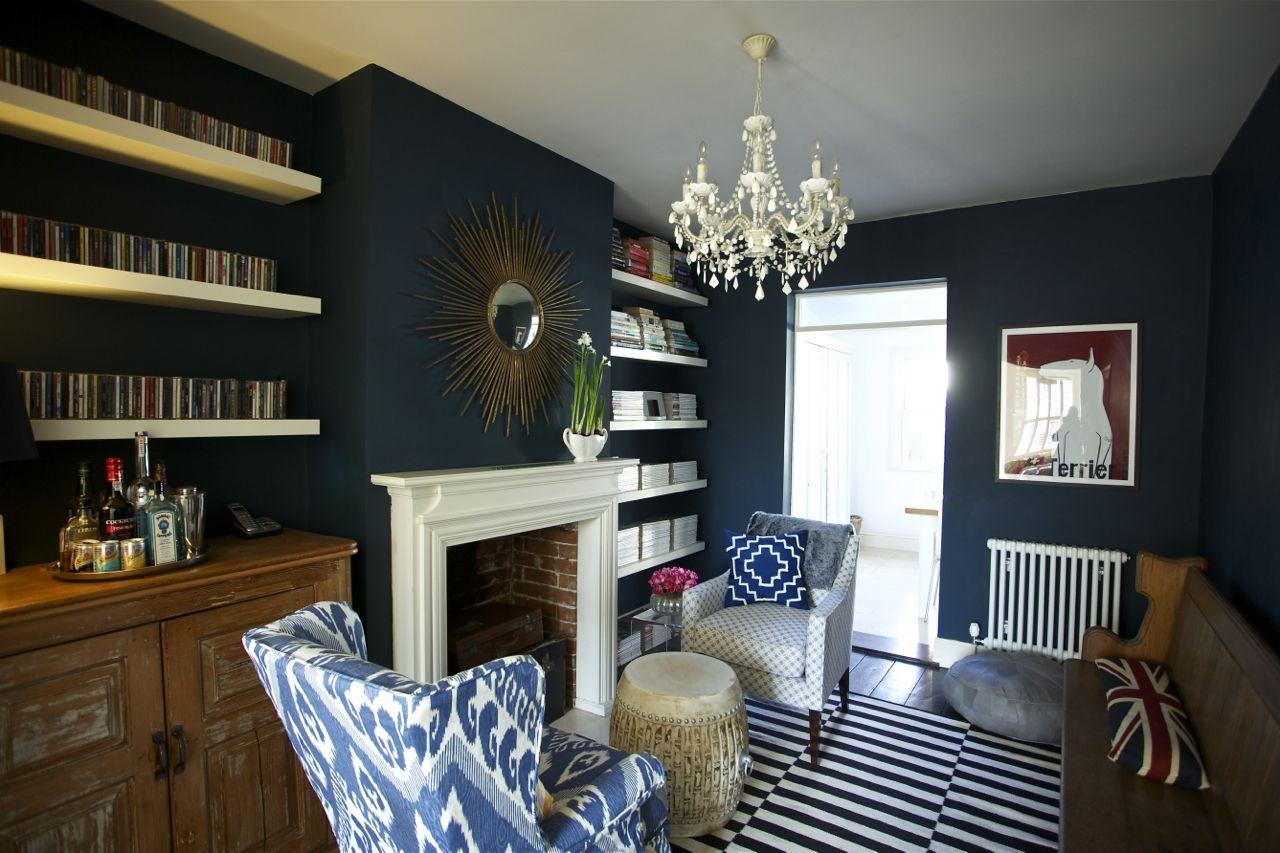 Ikat Chair Ikea Rug Farrow And Ball Hague Blue Jojo