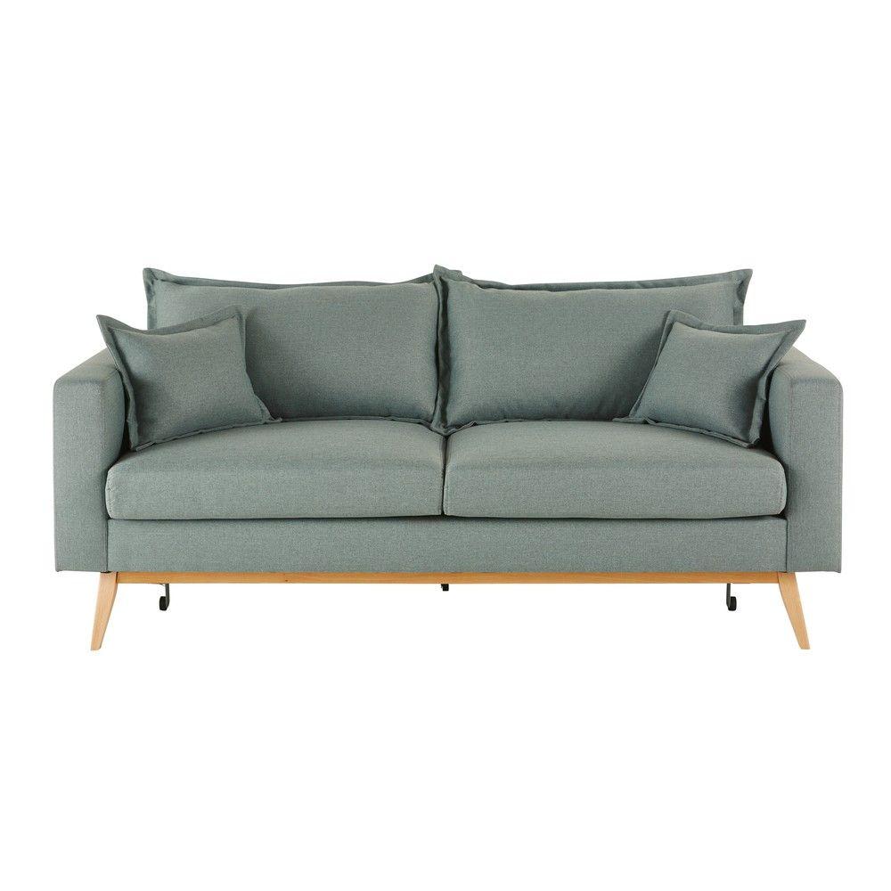 Midnight Blue 3 Seater Fabric Sofa Bed Maisons Du Monde Canape Maison Du Monde Canape Vintage Lit Vintage