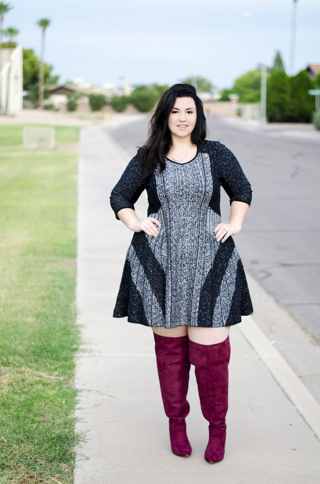 5 Feminine Ways To Wear Over The Knee Boots As A Plus Size Girl In