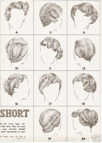 1940s Short Hair Styles