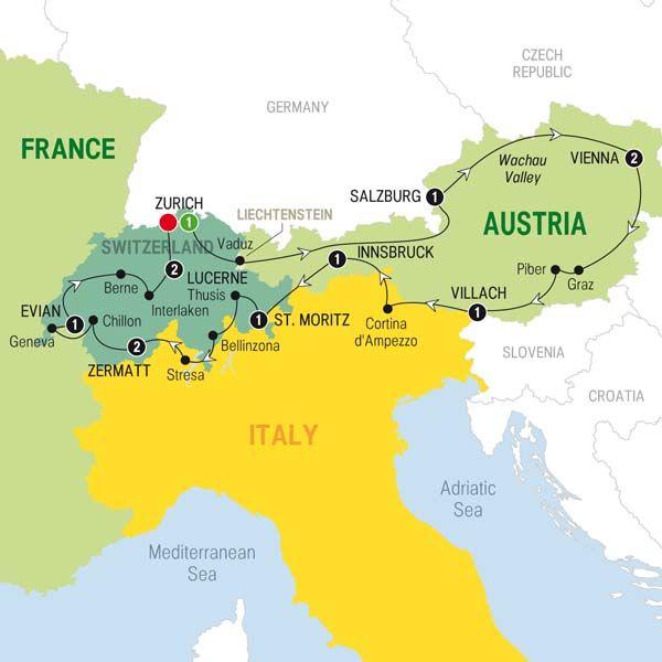 Larger Map Wanderlust Pinterest Switzerland Austria And: Map Of Switzerland And Austria At Infoasik.co