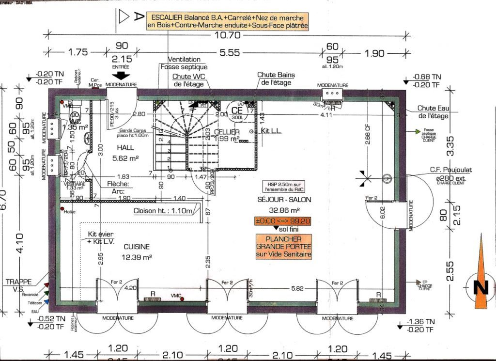 plan du rez de chaussée Idée maison Pinterest