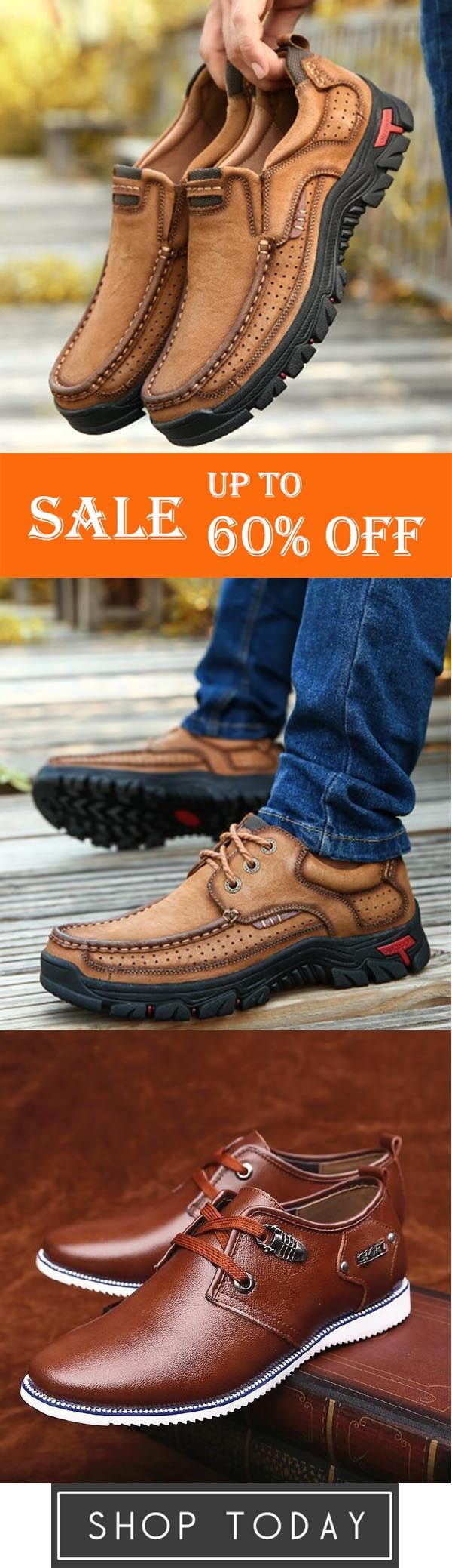 Men Casual Outdoor Slipon Genuine Leather Oxfords,Large Size Men Leather Wearresistant Casual Shoes