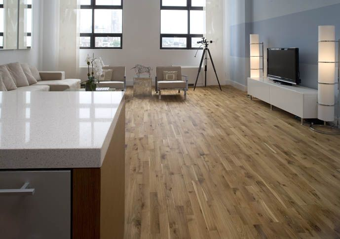 Junckers Solid Oak Variation Adds Natural Beauty To This Open Plan