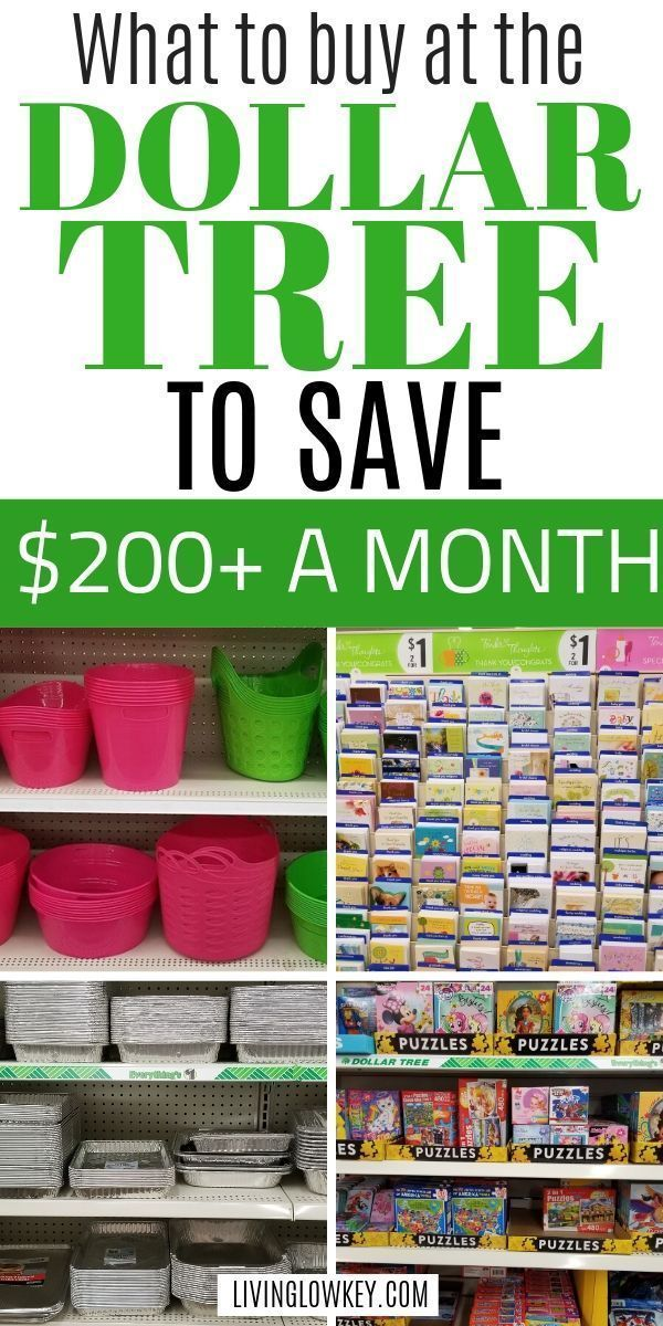 The Dollar Tree Store Should Be Your One Stop For Everyday Essentials Here is what you need to buy at the Dollar Tree to save the most money every month. If you love DIY crafts, organization hacks, and cheap holiday decor come find out how to save hundreds at the dollar store.