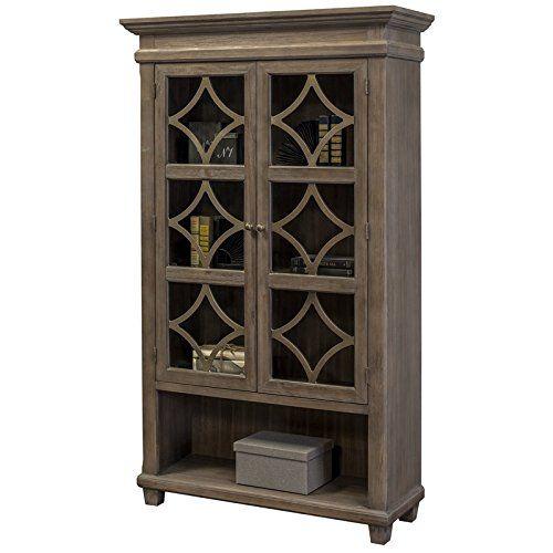 715 6 Martin Furniture Imca4270 Gl Display Cabinet Weathered