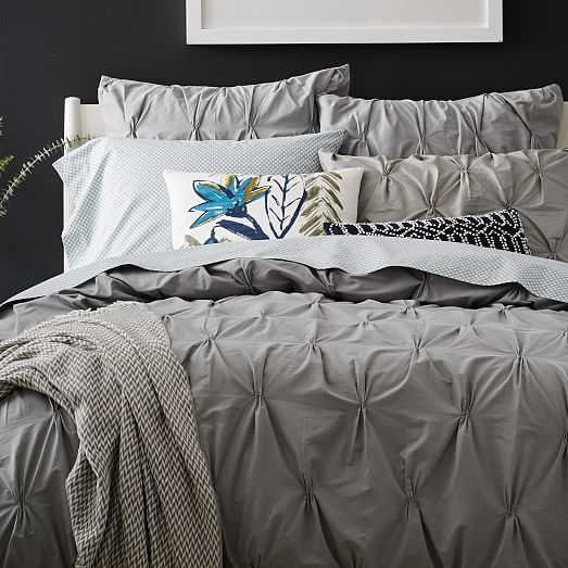 Organic Cotton Pintuck Duvet Cover Shams
