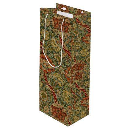 Wandle Design vintage william morris wandle wine gift bag patterns pattern