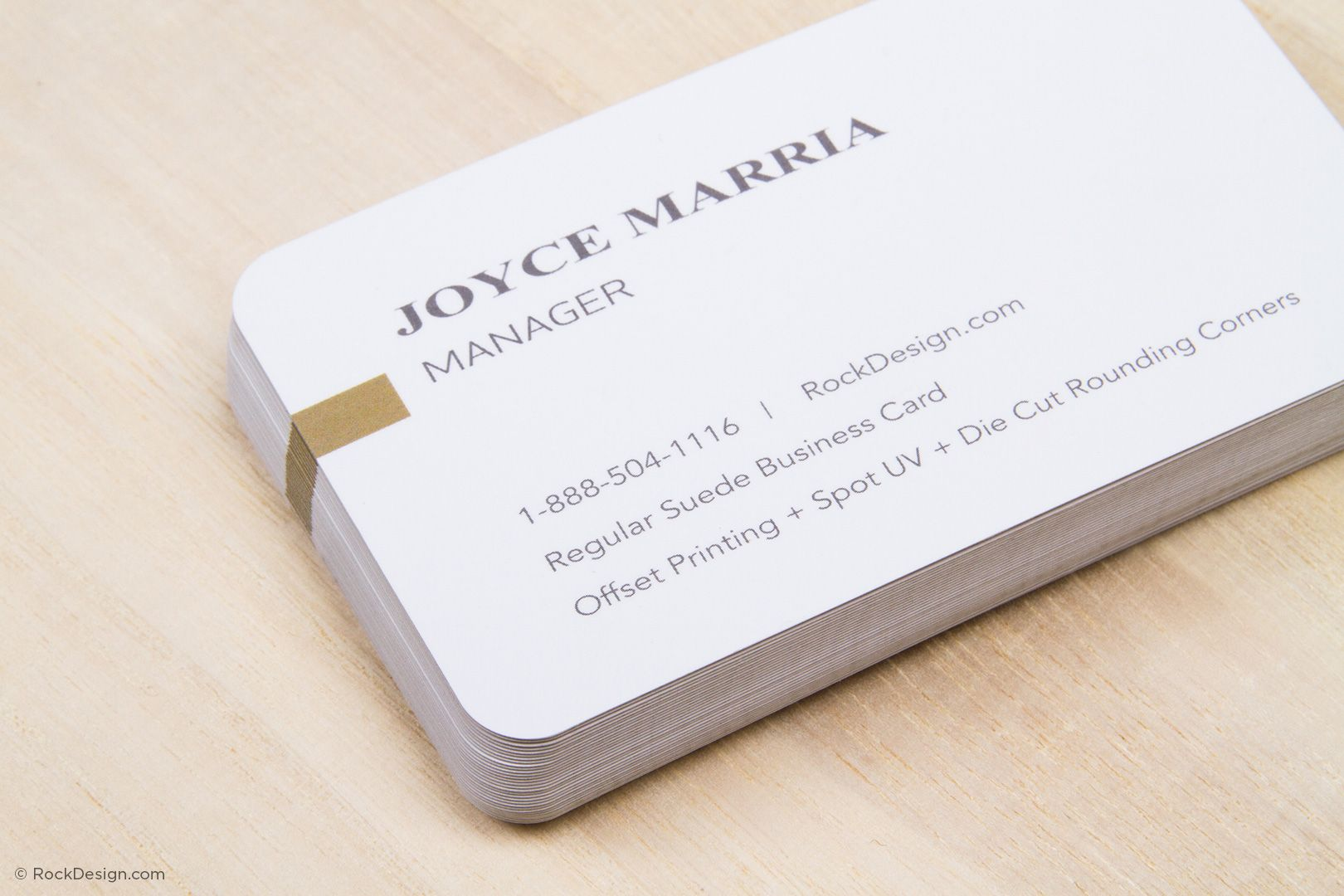 Classic suede business card with spot UV - LXE   RockDesign Luxury ...