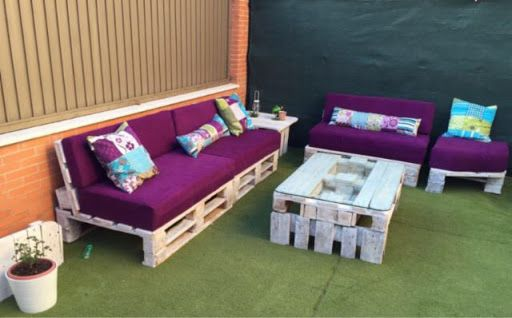 sofas con palets y mesa 1 - Sofas De Palets