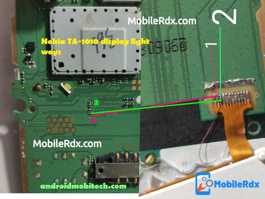 Nokia 105 TA1010 Display Light Ways Backlight Jumper