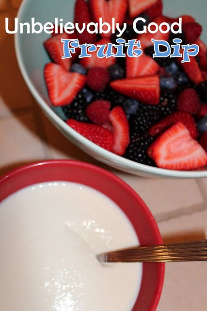 Harris Sisters GirlTalk: Unbelievably Good Fruit Dip Recipe (pair it with fresh berries for red/white/blue dish)