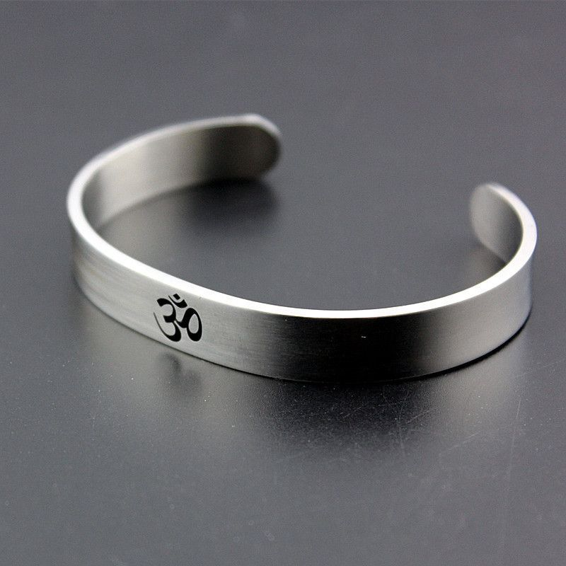 AUM OM Stainless Steel Cuff Bracelet