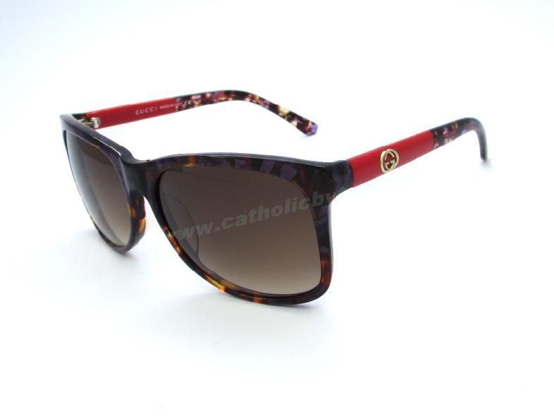 88304ca377 Cheap Gucci GG 3613 S Havana Red Frame Brown Lens Sunglasses Outlet For Sale