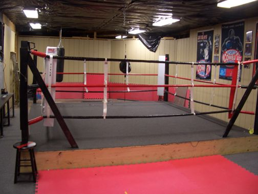 how to build a boxing ring for cheap