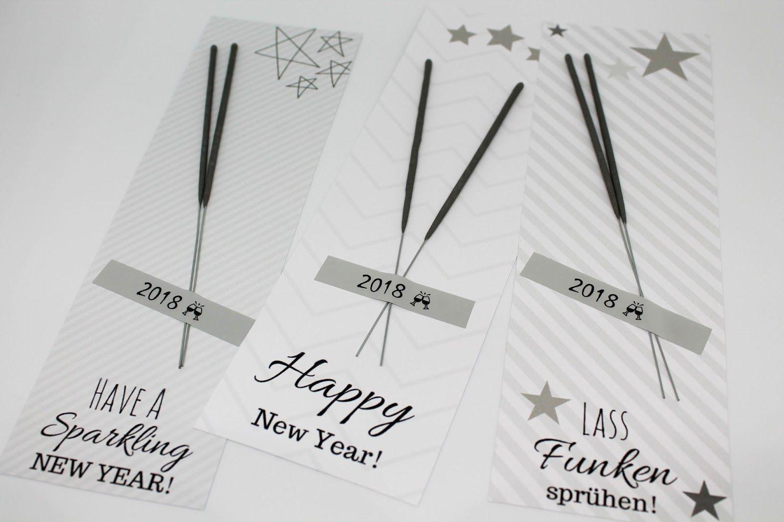 Happy New Year 2020 Gl/ücksbringer Wunderkerze-Sternenspr/üher