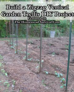 Build a Zigzag Vertical Garden Trellis DIY Project Build a Zigzag Vertical Garden Trellis DIY Project