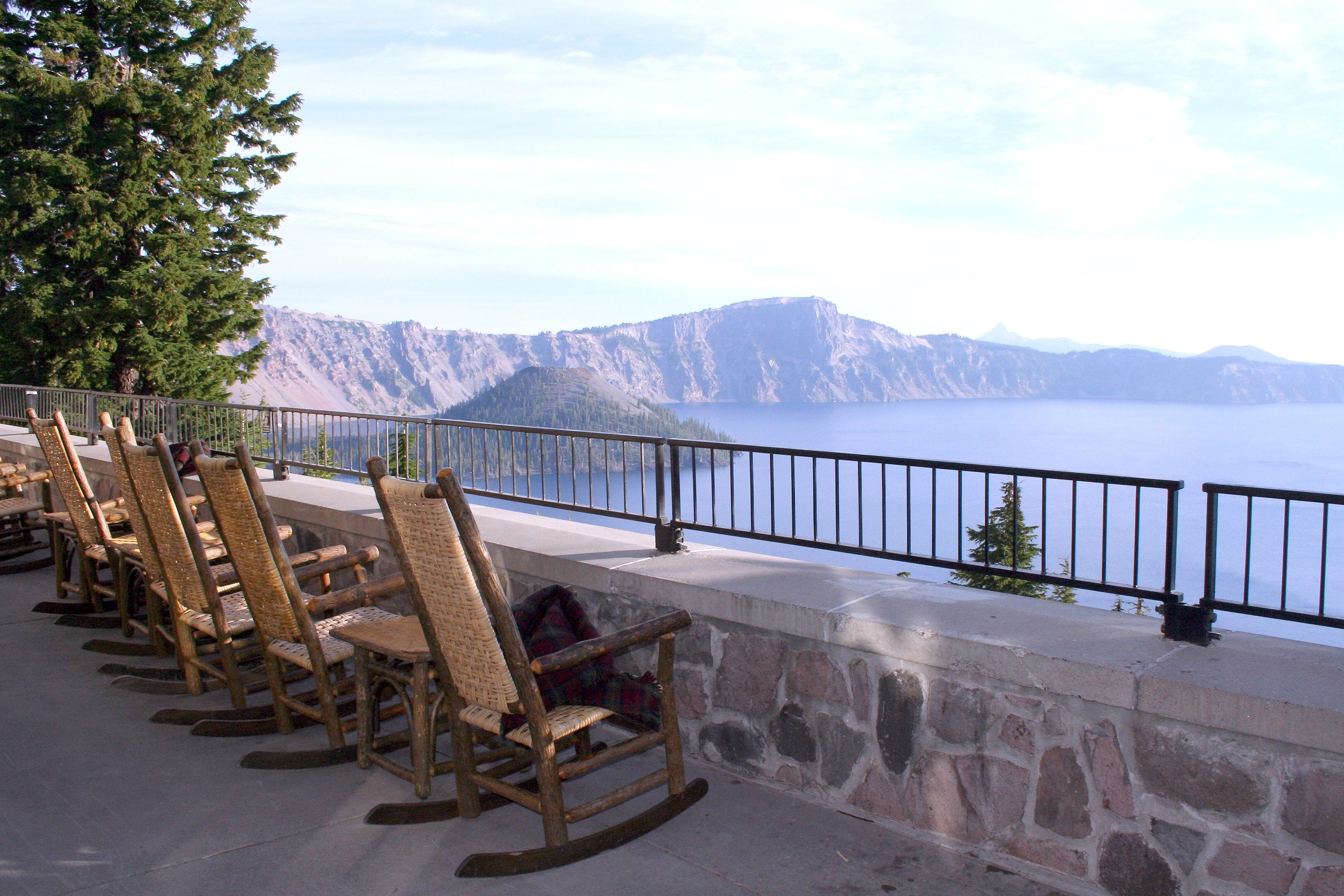 Crater Lake Lodge A Member Of Historic Hotels America View From The Deck