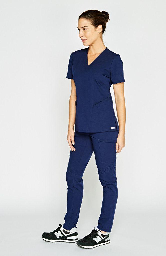 b8fad37ec63 women's moyo skinny moto scrub pants - navy | FIGS Medical Apparel ...